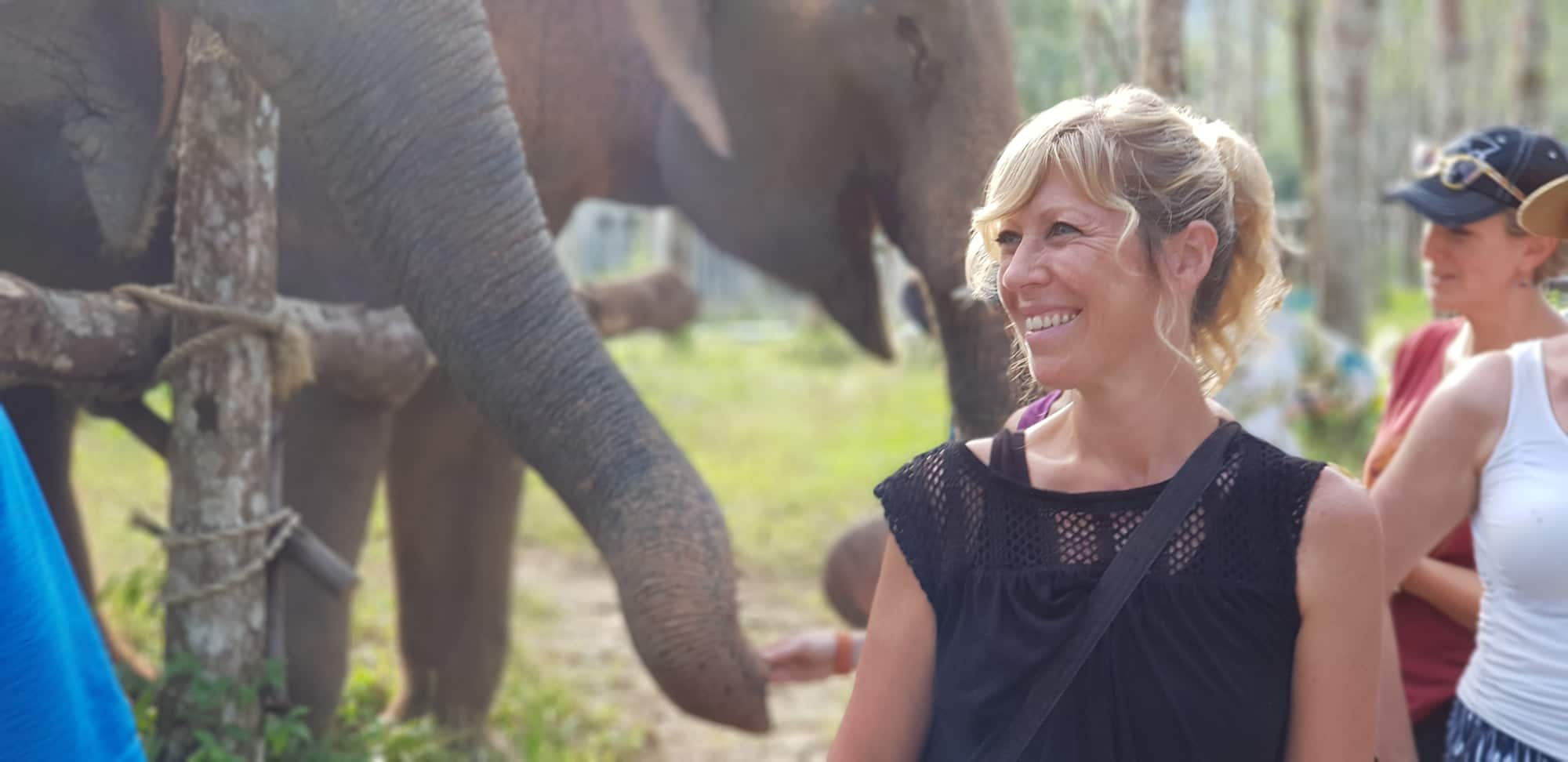 Colleen with elephant