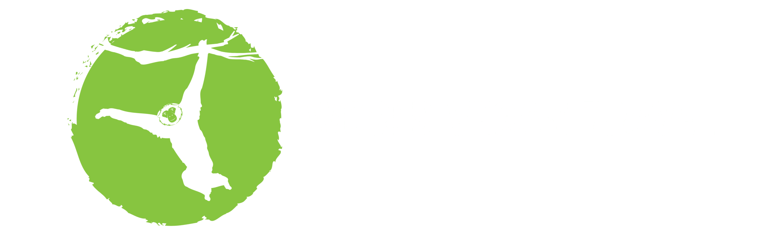 World Vegan Travel logo - white v1