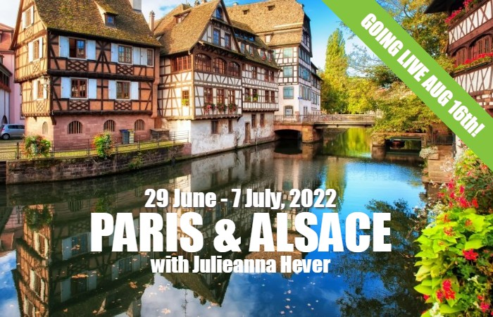 Julieanna Paris & Alsace 2022 live on Aug 16
