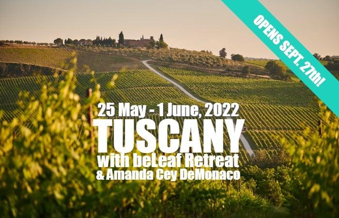 Tuscany with beLeaf retreat and Amanda Cey DeMonaco 2022
